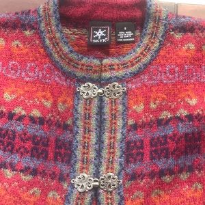 SKYR Nordic 100% wool sweater cardigan